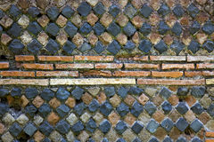 Ancient Roman Stone Wall Background Ostia Antica Royalty Free Stock Photography