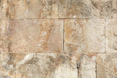 Ancient roman stone wall background Stock Photography