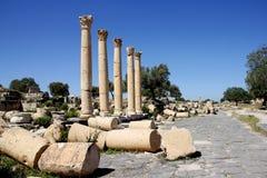 Ancient Roman street, Jordan Stock Image