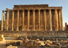 Ancient Roman temple Royalty Free Stock Photos