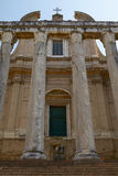 Ancient Roman Temple of Antoninus and Faustina in Rome Italy Royalty Free Stock Photo