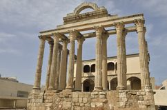 Ancient Roman temple Stock Photos