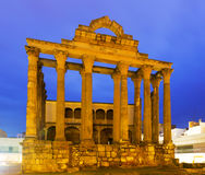 Ancient roman temple   in evening Royalty Free Stock Photos