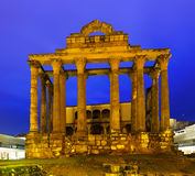Ancient roman temple in evening Royalty Free Stock Photo