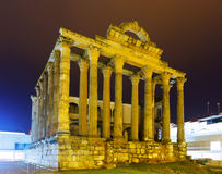 Ancient roman temple in  night Stock Images