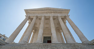 The ancient Roman temple of Nimes in France Royalty Free Stock Image