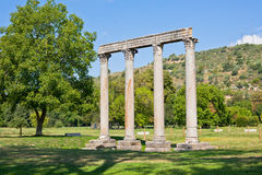 Ancient Roman Temple in Riez, France Stock Photos