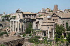 Ancient Roman Temples Royalty Free Stock Images