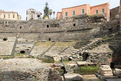 Ancient Roman theater in Catania, Italy Stock Photography