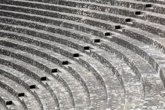 Ancient roman theater of Fourviere in Lyon Royalty Free Stock Photo
