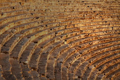 Ancient roman theater in Turkey. Ancient roman theater ruin in Turkey Stock Images