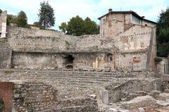 Ancient Roman theatre of Brescia Royalty Free Stock Photos
