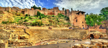 Ancient Roman Theatre in Malaga, Andalusia, Spain Royalty Free Stock Photo