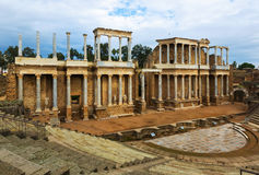Ancient Roman Theatre  in  Merida Royalty Free Stock Photography