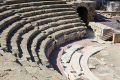 Ancient Roman Theatre near Malaga Alcazaba castle on Gibralfaro mountain, Andalusia, Spain Royalty Free Stock Photography