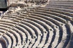 Ancient Roman Theatre near Malaga Alcazaba castle on Gibralfaro mountain, Andalusia, Spain Royalty Free Stock Photos