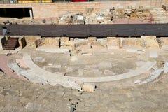 Ancient Roman Theatre near Malaga Alcazaba castle on Gibralfaro mountain, Andalusia, Spain Stock Image