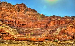 Ancient Roman Theatre in Petra Royalty Free Stock Photo