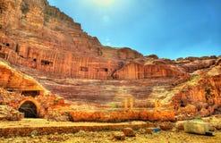 Ancient Roman Theatre in Petra Stock Photos