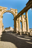 Ancient Roman time town in Palmyra Stock Photos