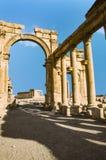 Ancient Roman time town in Palmyra Stock Photos