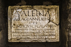 Ancient Roman tombstone plate Stock Photography