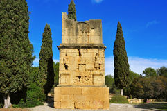 Ancient roman Torre dels Escipions in Tarragona, Spain Stock Image