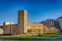 Ancient roman tower in sunrise light Tarragona, Spain Royalty Free Stock Photography