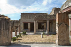 Ancient roman villa in Herculaneum Royalty Free Stock Photos