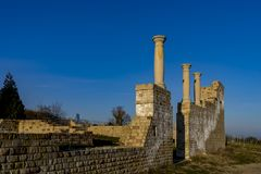 Ancient Roman winery in the south of the Palatinate of Germany royalty free stock photos