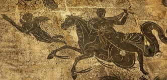 Ancient Roman Woman Horse Cupid Ostia Antica Rome Royalty Free Stock Images