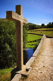 Ancient Romanic Bridge Royalty Free Stock Photography