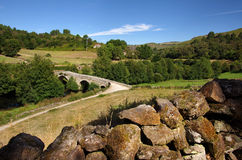 Ancient Romanic Bridge Stock Image