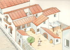 Ancient Rome. Vision of a house of Ancient Rome Stock Images