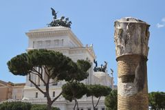 Ancient Rome Architecture, Rome, Italy Royalty Free Stock Image