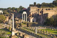 Ancient Rome Architecture and Sculptures, Rome Stock Photo