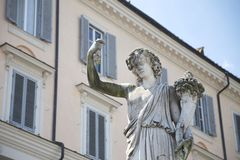 Ancient Rome Architecture and Sculptures, Rome Stock Images