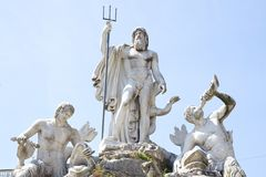 Ancient Rome Architecture and Sculptures, Rome Stock Photography