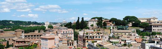 Ancient Rome city aerial view from Palatino hill Stock Photo