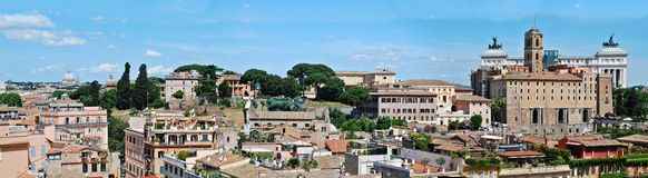 Ancient Rome city aerial view from Palatino hill Royalty Free Stock Photos