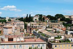 Ancient Rome city aerial view from Palatino hill Royalty Free Stock Images