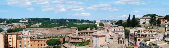 Ancient Rome city aerial view from Palatino hill Royalty Free Stock Photography