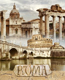 Ancient Rome stock illustration