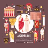 Ancient Rome Flat Composition Poster vector illustration