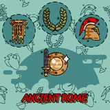 Ancient rome flat concept icons. Vector illustration, EPS 10 Stock Photography