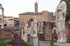 Ancient Rome, the Forum Romano Stock Photography