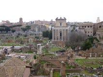 Forum romanum in Rome royalty free stock photos