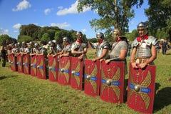 Ancient Rome: reenactment of the battle between Marcus Aurelius and Ballomar Stock Photos