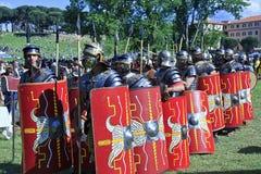 Ancient Rome: reenactment of the battle between Marcus Aurelius and Ballomar Stock Photography