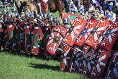 Ancient Rome: reenactment of the battle between Marcus Aurelius and Ballomar Royalty Free Stock Photos